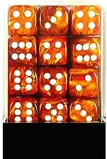 Dice Gaming Supplies 36 Count 12mm 6-Sided d6 Dice Pack Lustrous [Bronze/White 27892]