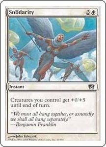 Magic the Gathering Eighth Edition Single Card Common #46 Solidarity