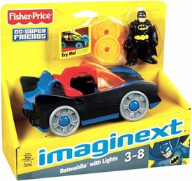 Imaginext DC Super Friends Batmobile with Lights [Includes Black Costume Batman Figure]