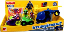 Imaginext Exclusive DC Super Friends Gift Set [Includes Batcopter with Batman, Joker& Green Lantern Figures]
