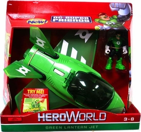 DC Super Friends Hero World Vehicle & Action Figure Green Lantern Jet
