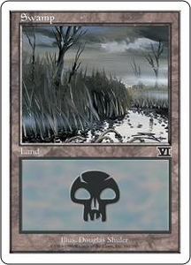 Magic the Gathering Starter 2000 Single Card Land Swamp [Random Artwork]