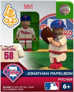 OYO Baseball MLB Generation 2 Building Brick Minifigure Jonathan Papelbon [Philadelphia Phillies]