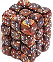 Dice Gaming Supplies 36 Count 12mm 6-Sided d6 Dice Pack Lustrous [Gold/Silver 27893]