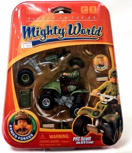 Mighty World Always On The Go Playset #8690 PFC Scott the ATV Scout