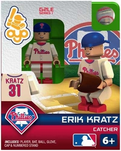 OYO Baseball MLB Generation 2 Building Brick Minifigure Erik Kratz [Philadelphia Phillies]