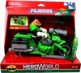 DC Super Friends Hero World Action Figure & Vehicle Kilowog & Cycle