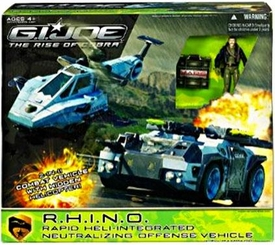 GI Joe Movie The Rise of Cobra Deluxe Vehicle Exclusive R.H.I.N.O. with Rampage Action Figure