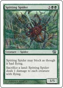 Magic the Gathering Eighth Edition Single Card Uncommon #280 Spitting Spider