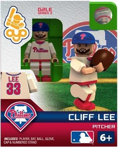 OYO Baseball MLB Generation 2 Building Brick Minifigure Cliff Lee [Philadelphia Phillies]