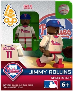 OYO Baseball MLB Generation 2 Building Brick Minifigure Jimmy Rollins [Philadelphia Phillies]