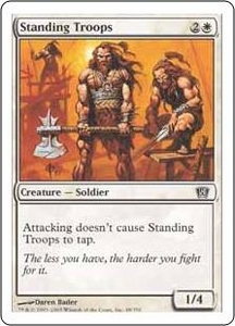 Magic the Gathering Eighth Edition Single Card Common #48 Standing Troops