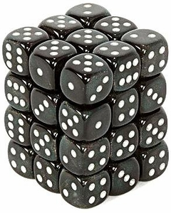 Dice Gaming Supplies 36 Count 12mm 6-Sided d6 Dice Pack Borealis [Smoke/Silver 27828]