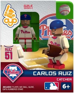 OYO Baseball MLB Generation 2 Building Brick Minifigure Carlos Ruiz [Philadelphia Phillies]