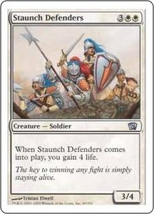 Magic the Gathering Eighth Edition Single Card Uncommon #49 Staunch Defenders