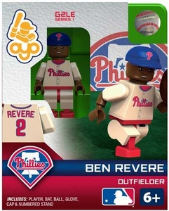 OYO Baseball MLB Generation 2 Building Brick Minifigure Ben Revere [Philadelphia Phillies]