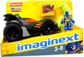 Imaginext DC Super Friends Batman with Batmobile [Includes Blue Costume Batman Figure]