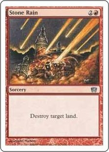 Magic the Gathering Eighth Edition Single Card Common #225 Stone Rain