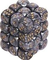 Dice Gaming Supplies 36 Count 12mm 6-Sided d6 Dice Pack Leaf [Steel/Gold 27810]