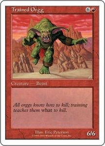 Magic the Gathering Starter 2000 Single Card Rare Trained Orgg