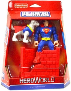 DC Super Friends Hero World Action Figure Supermanwith Krypto the Superdog