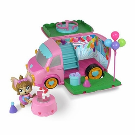 Mix Pups Playset Pawty Van Damaged Package, Mint Contents!