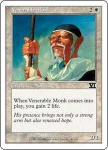 Magic the Gathering Starter 2000 Single Card Common Venerable Monk
