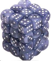 Dice Gaming Supplies 36 Count 12mm 6-Sided d6 Dice Pack Phantom [Black/Silver 27888]