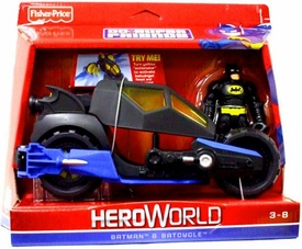 DC Super Friends Hero World Action Figure & Vehicle Batman & Batcycle