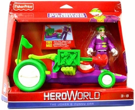 DC Super Friends Hero World Action Figure & Vehicle Joker & Funny Car