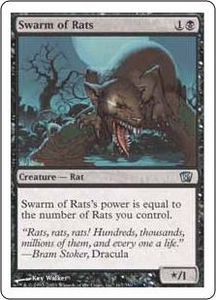 Magic the Gathering Eighth Edition Single Card Uncommon #167 Swarm of Rats