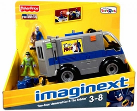 Imaginext DC Super Friends Exclusive Vehicle Two-Face Armored Car & Riddler