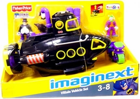 Imaginext DC Super Friends Exclusive Villain Vehicle Gift Set [Black Sub with Penguin & Joker Figures!]