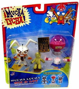 Mucha Lucha Action Figure 2-Pack Megawatt the Masher & The Flea Exclusive 1 of 100