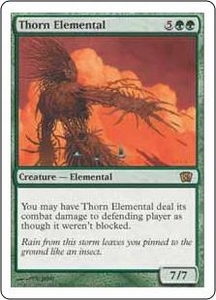 Magic the Gathering Eighth Edition Single Card Rare #283 Thorn Elemental