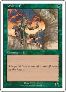 Magic the Gathering Starter 2000 Single Card Common Willow Elf