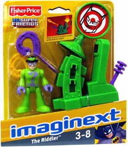 Imaginext DC Super Friends Figure Riddler with Question Mark Launcher & Target  [Colors Vary]