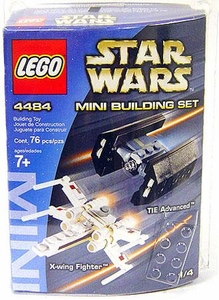 LEGO Star Wars Mini Set #4484 X-Wing Fighter & TIE Advanced