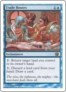 Magic the Gathering Eighth Edition Single Card Rare #109 Trade Routes