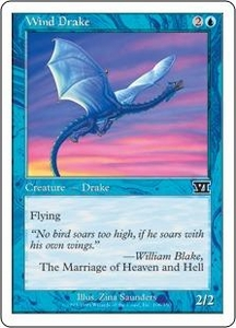 Magic the Gathering Starter 2000 Single Card Common Wind Drake