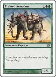 Magic the Gathering Eighth Edition Single Card Common #284 Trained Armodon