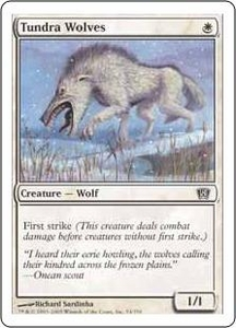 Magic the Gathering Eighth Edition Single Card Common #54 Tundra Wolves