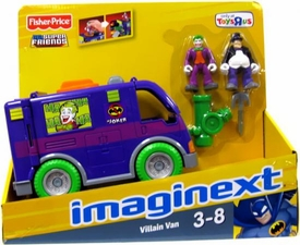 Imaginext DC Super Friends Exclusive Villain Van [Includes Penguin & Joker Figures]
