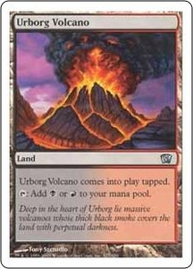 Magic the Gathering Eighth Edition Single Card Uncommon #327 Urborg Volcano