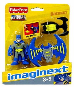 Imaginext DC Super Friends Figure Batman [Blue & Grey Suit] with Batarang