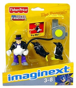 Imaginext DC Super Friends Figure Penguin with Umbrella Backpack