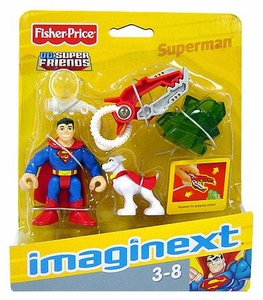 Imaginext DC Super Friends Figure Superman with Krypto Super Dog