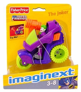 Imaginext DC Super Friends Figure Joker with Motorcycle