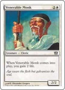 Magic the Gathering Eighth Edition Single Card Common #55 Venerable Monk