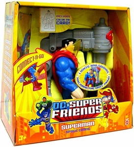 DC Super Friends DELUXE Action Figure Superman Space Crane!